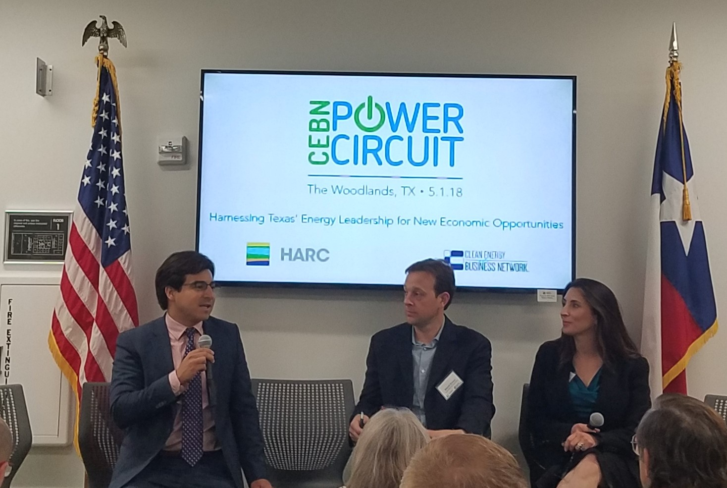Charles Hernick, Policy Director, Citizens for Responsible Energy Solutions (CRES) Forum; David Green, Deputy Director, Coastal Resources, General Lands Office; and Barbara Canales, Commissioner, Port of Corpus Christi Authority discuss clean energy policy opportunities and challenges in Texas.
